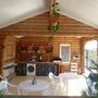 Мини-отель Экодом Белые росы, летняя кухня для гостей, фото 26